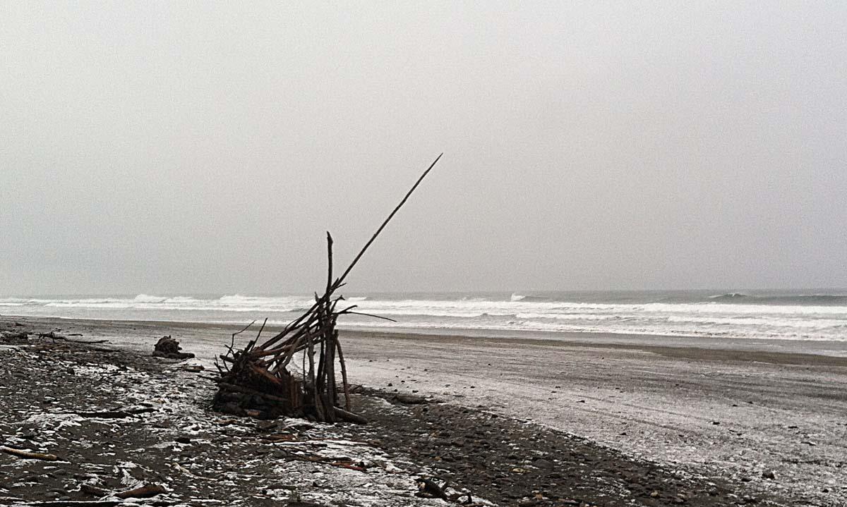 Snow Fort on Oregon Beach
