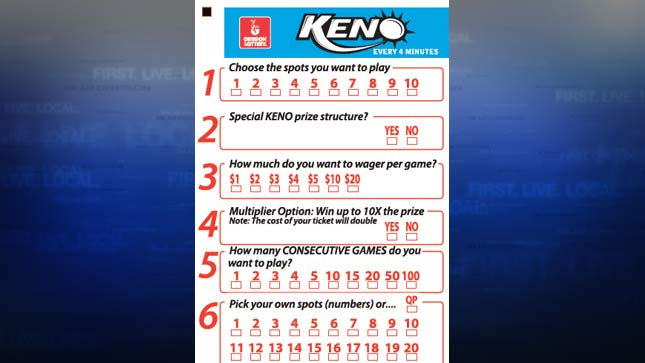 Keno-Card