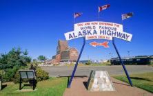 Mile Zero of the famed Alaska Highway, Dawson Creek, northern British Columbia, Canada.