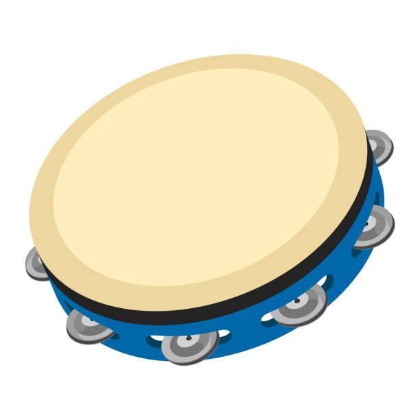Illustrationen visar en tamburin