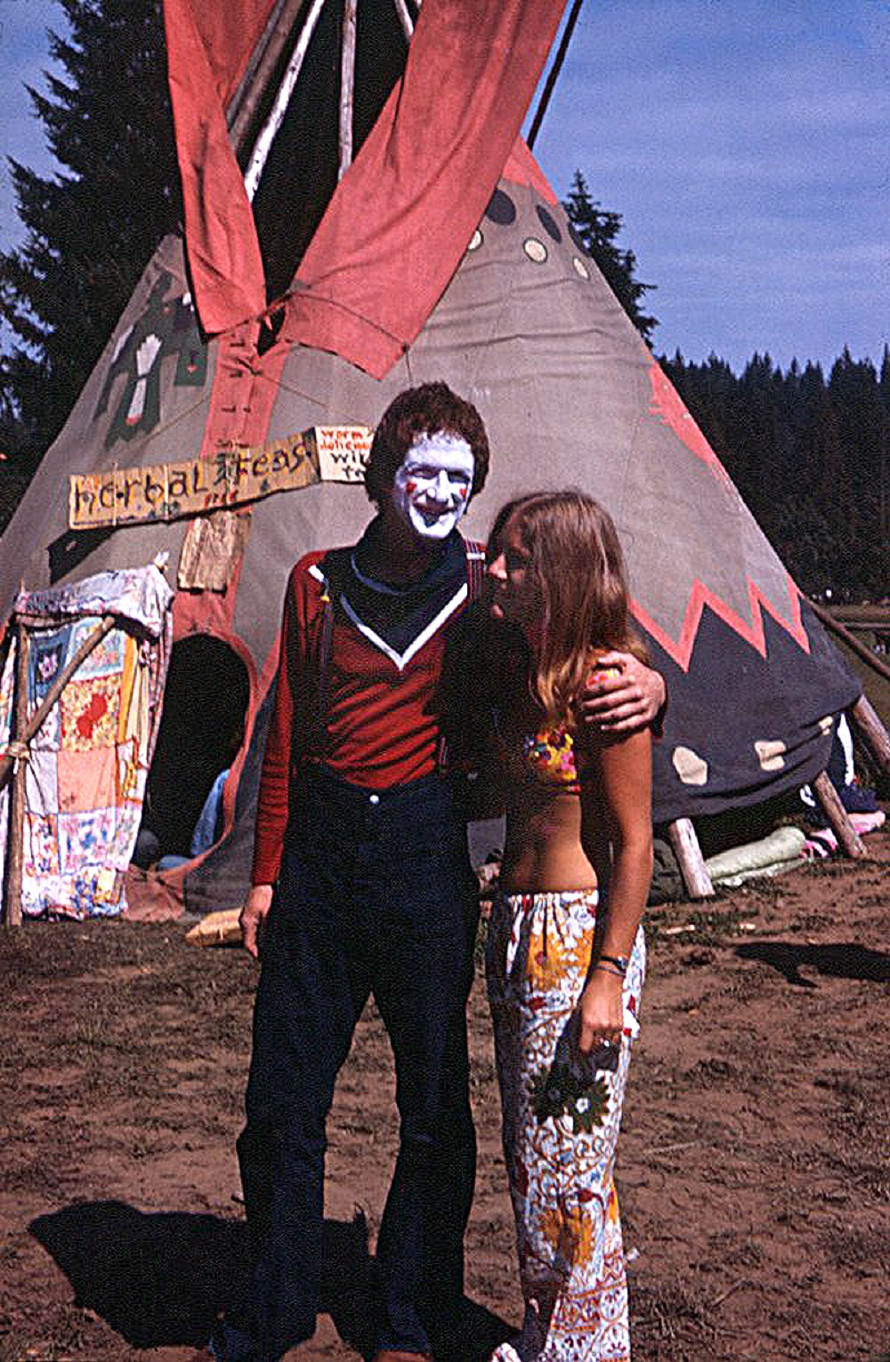 Girl with Clown - Vortex 1 - 1970 - McIver State Park