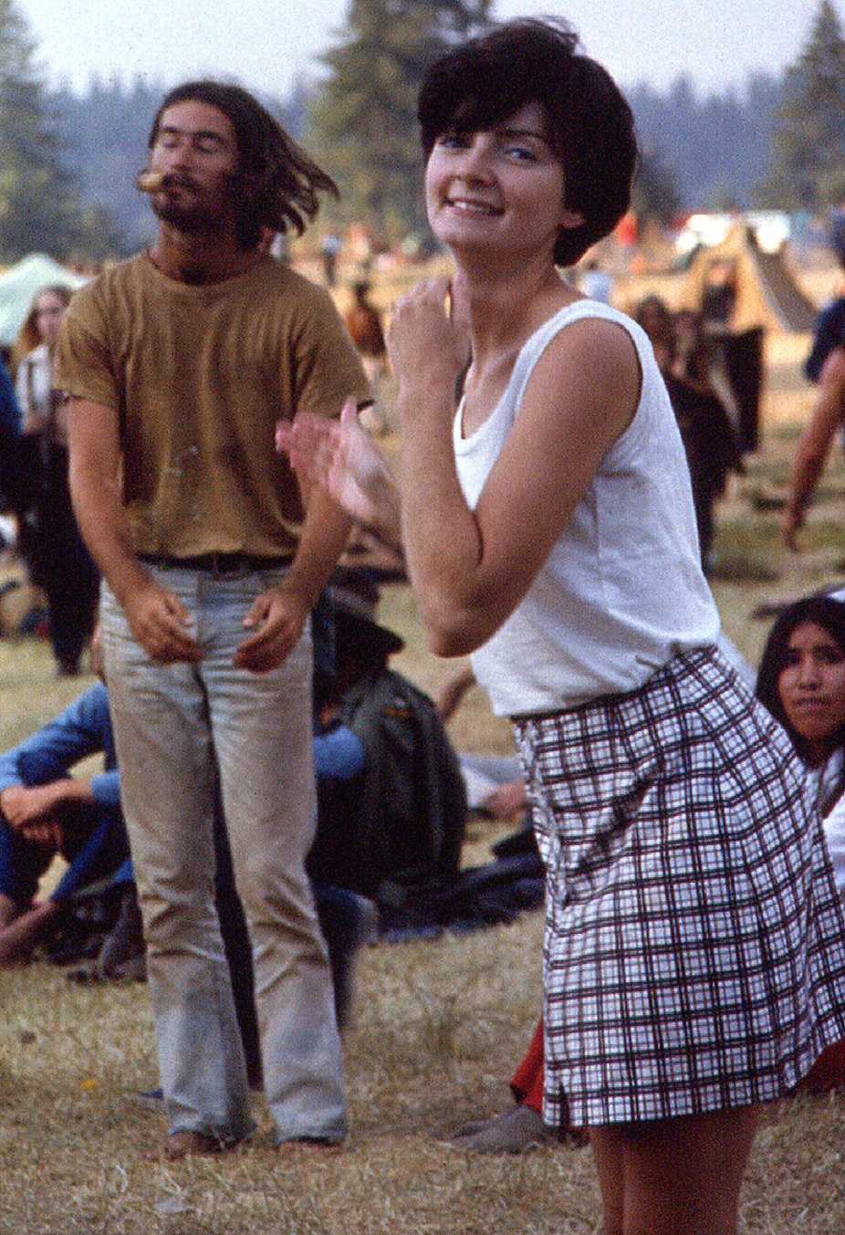 Girl & Dude Dancing to the Music - Vortex 1 - 1970 - McIver State Park