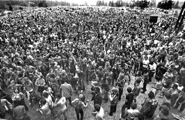 Vortex I Festival's Peak Crowd - 1970 - McIver State Park
